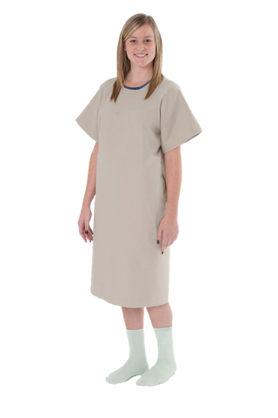 A great way to show your patients you care, this lightweight yet warm, plush gown has a full cut to fit a variety of patients and can be worn as a front or rear opening gown.