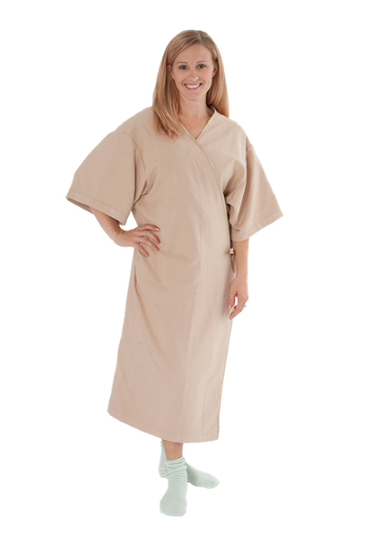 With a generous cut and inside and outside ties to ensure complete coverage whether it opens in the front or the rear, this versatile gown is guaranteed to increase patient comfort.